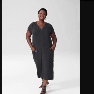 Universal Standard Black Nox Cupro Jumpsuit